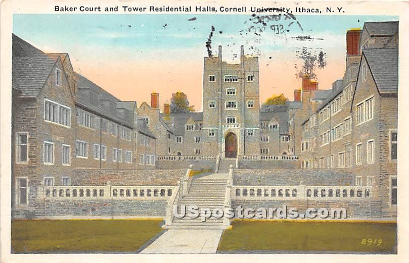 Baker Court, Cornell University - Ithaca, New York NY Postcard