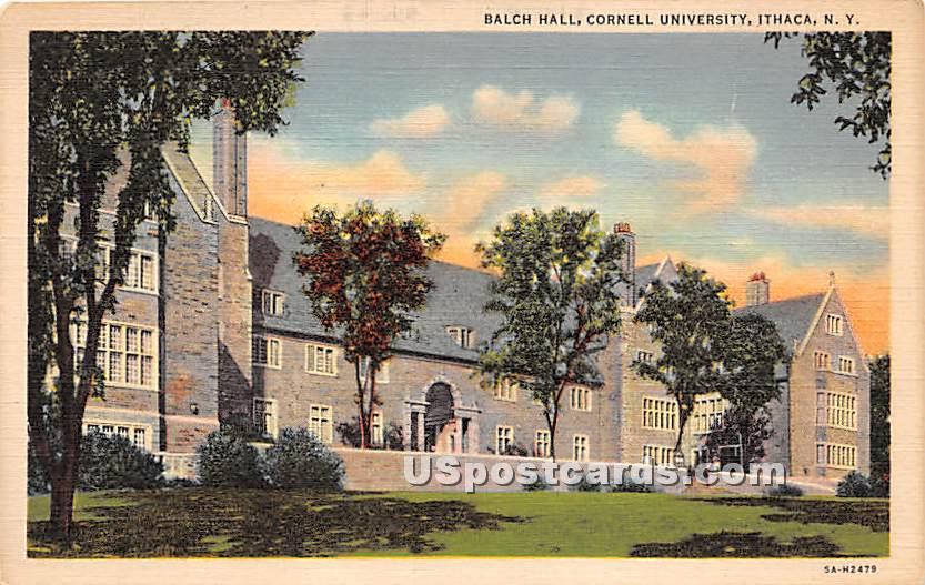 Balch Hall, Cornell University - Ithaca, New York NY Postcard
