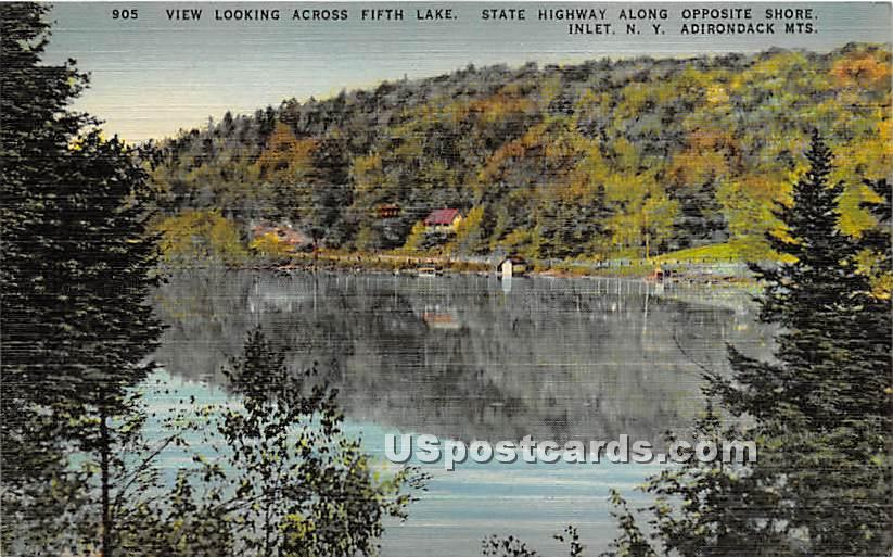 Fifth Lake, State Highway - Inlet, New York NY Postcard