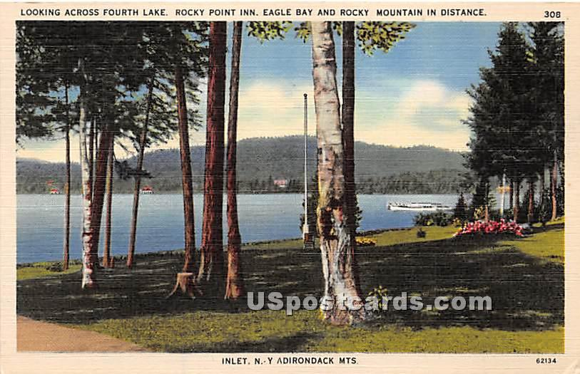 Fourth Lake, Fulton Chain of Lakees - Inlet, New York NY Postcard