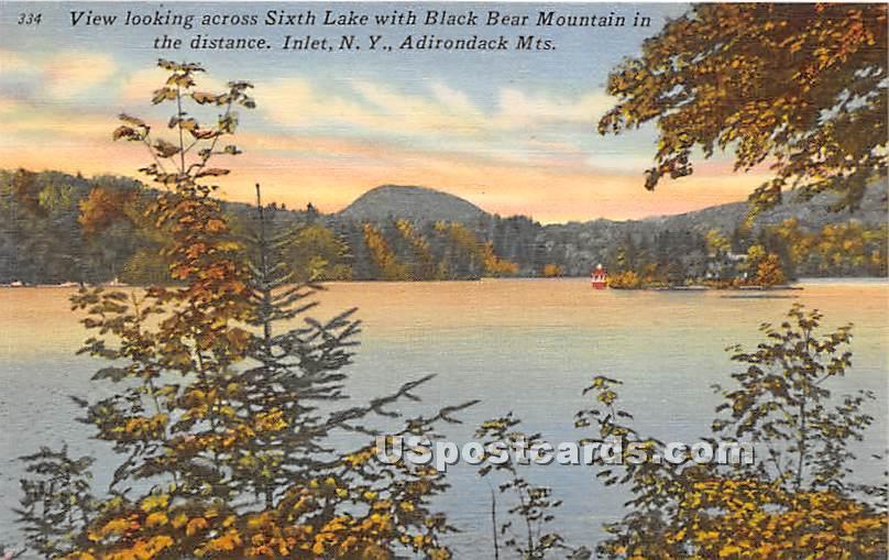 Sixth Lake, Black Bear Mountain - Inlet, New York NY Postcard