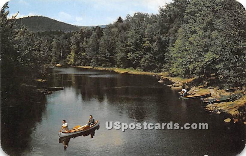 Lewey Lake Outlet - Indian Lake, New York NY Postcard