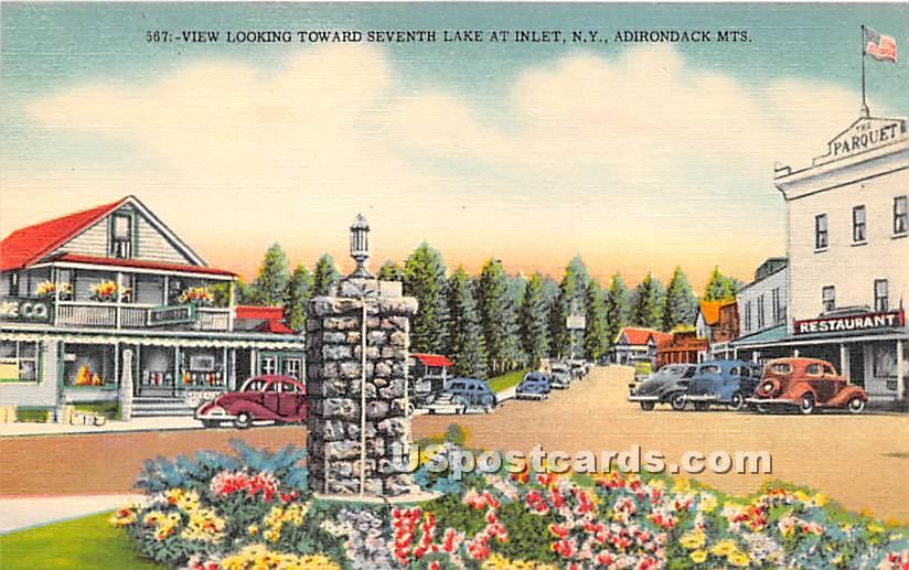 Seventh Lake - Inlet, New York NY Postcard
