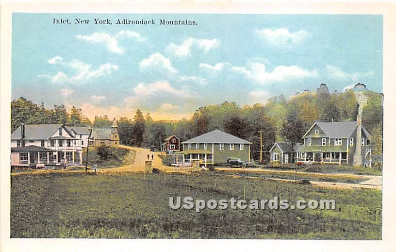 Adirondack Mountains - Inlet, New York NY Postcard