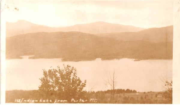 From Porter Mountain Indian Lake, New York Postcard