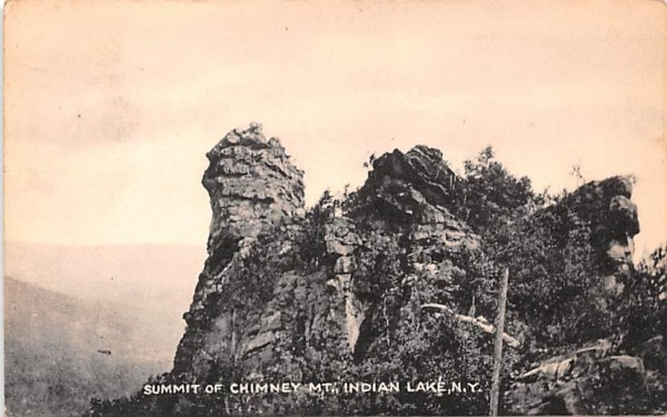 Summit of Chimney Mountain Indian Lake, New York Postcard