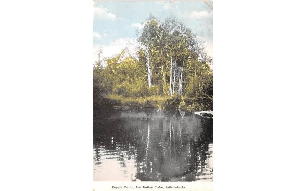 Popple Point Indian Lake, New York Postcard