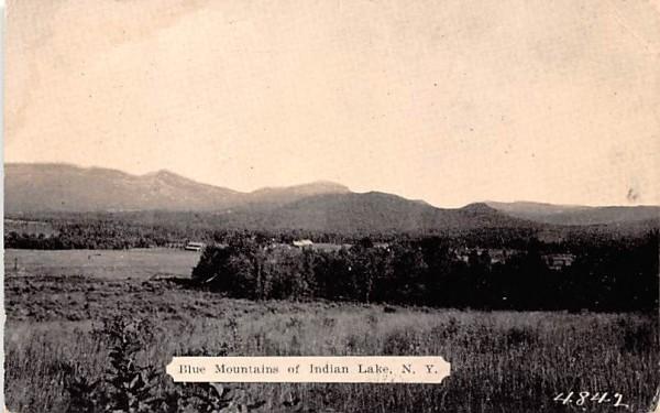 Blue Mountains Indian Lake, New York Postcard