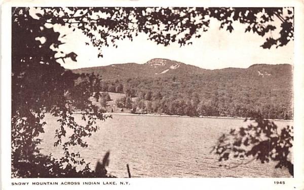 Snowy Mountain Indian Lake, New York Postcard