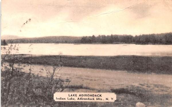 Lake Adirondack Indian Lake, New York Postcard