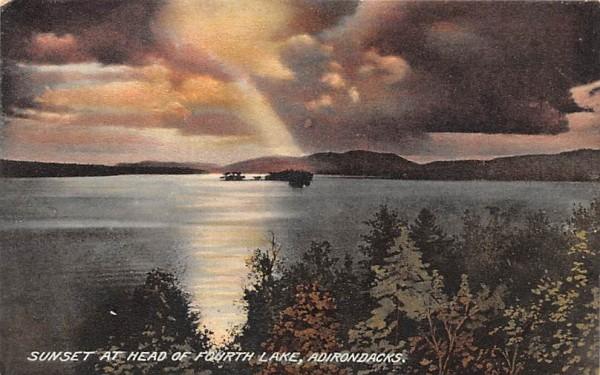 Head of Fourth Lake Indian Lake, New York Postcard