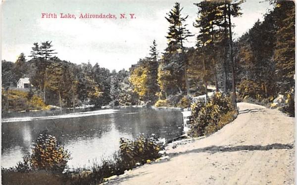 Fifth Lake Indian Lake, New York Postcard