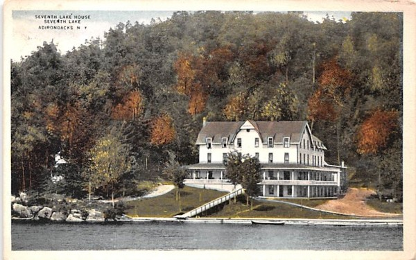 Seventh Lake House Indian Lake, New York Postcard