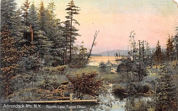 Fourth Lake Indian Lake, New York Postcard