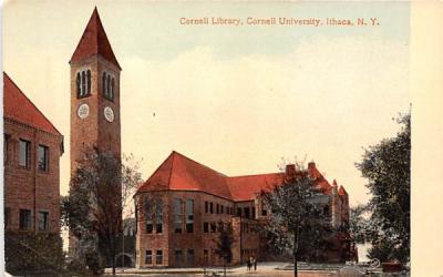 Cornell Library Ithaca, New York Postcard