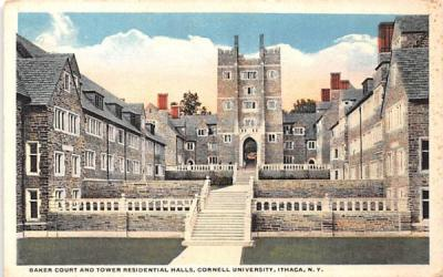 Baker Court & Tower Residential Halls Ithaca, New York Postcard