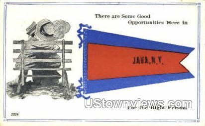 . - Java, New York NY Postcard