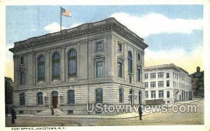 Post Office - Jamestown, New York NY Postcard