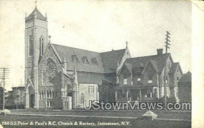 St. Peter and Paul Church - Jamestown, New York NY Postcard
