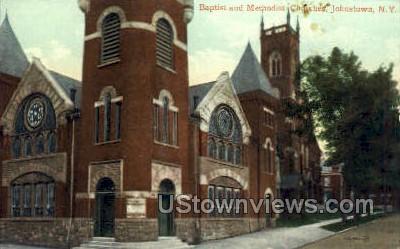 Baptist Church - Johnstown, New York NY Postcard
