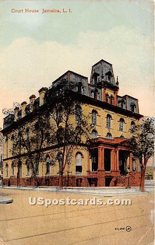 Court House - Jamaica, New York NY Postcard