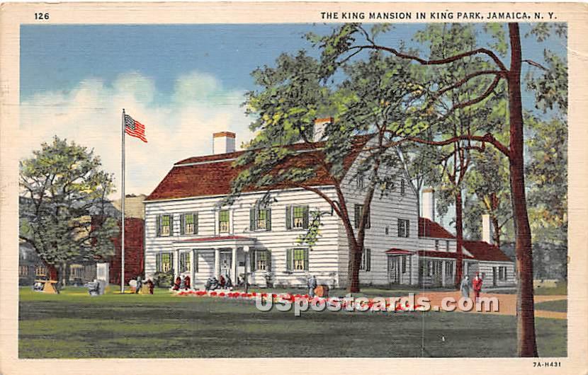 King Mansion, King's Park - Jamaica, New York NY Postcard