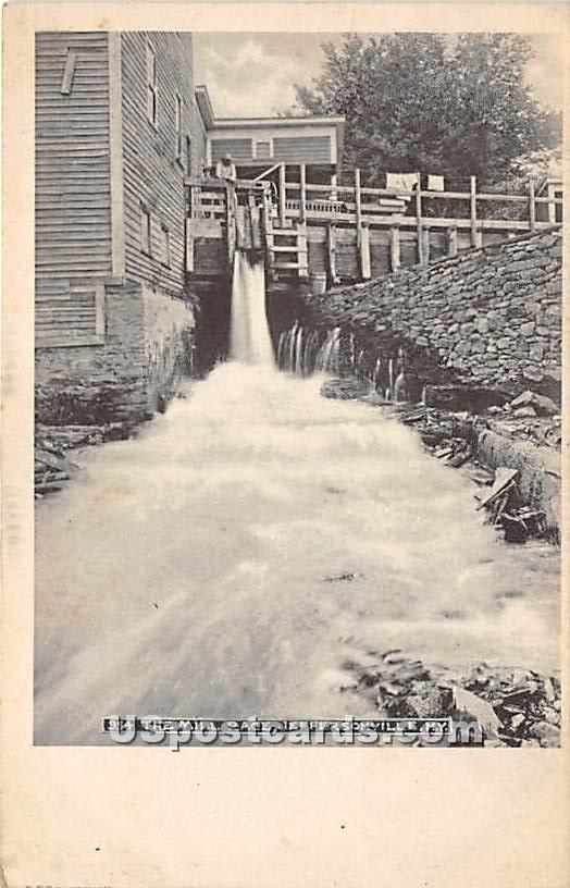 The Mill Race - Jeffersonville, New York NY Postcard