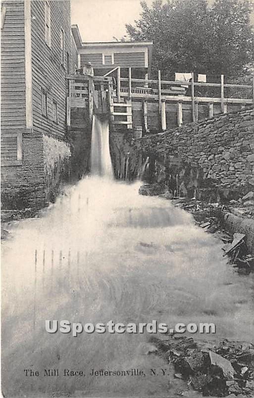 The Mill Race - Jeffersonville, New York NY Postcard