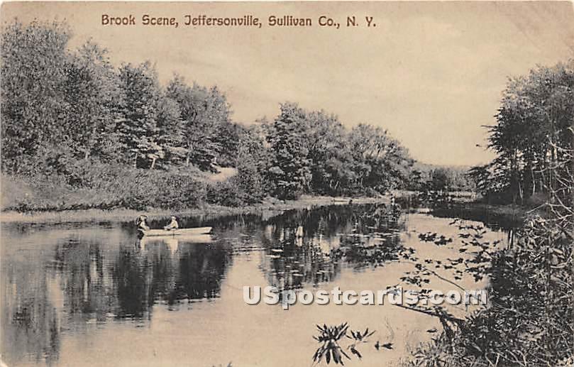Brook Scene - Jeffersonville, New York NY Postcard