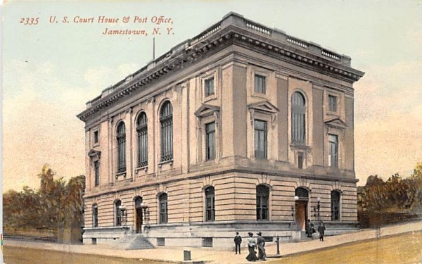 US Court House & Post Office Jamestown, New York Postcard