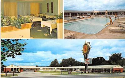 Lakewood Motel Jamestown, New York Postcard