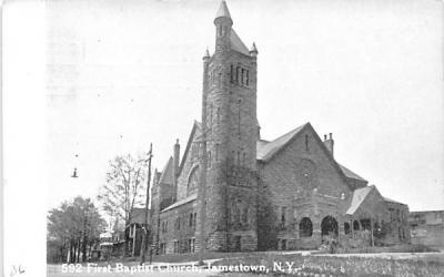 592 First Baptist Church Jamestown, New York Postcard