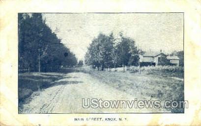 Main Street - Knox, New York NY Postcard
