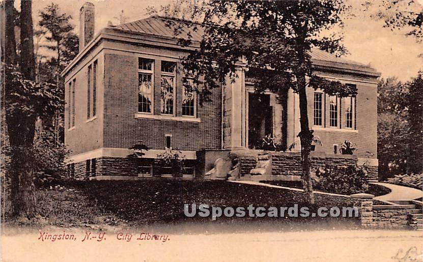 City Library - Kingston, New York NY Postcard