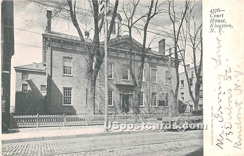 Court House - Kingston, New York NY Postcard