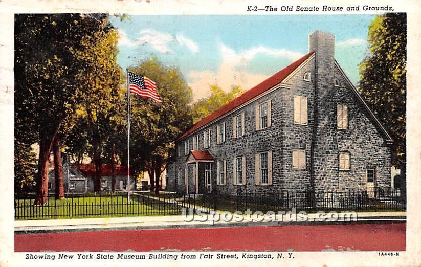 Old Senate House and Grounds - Kingston, New York NY Postcard