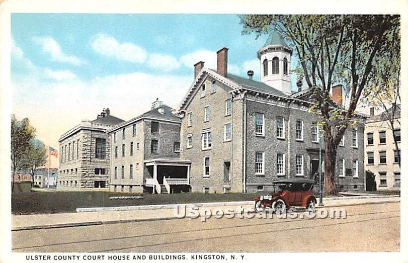 Ulster County Court House - Kingston, New York NY Postcard