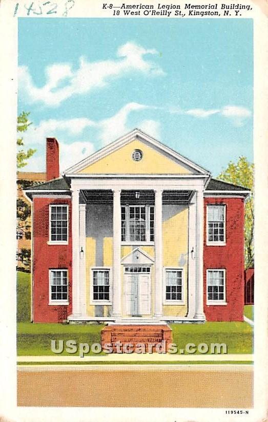 American Legion, Memorial Building - Kingston, New York NY Postcard