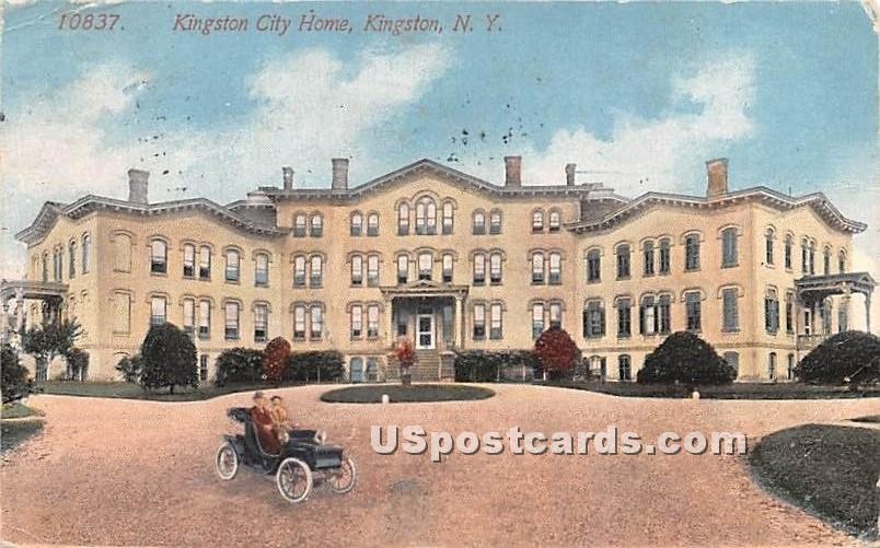 Kingston City Home - New York NY Postcard