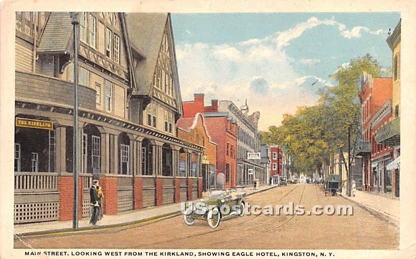 Main Street Looking West from Kirkland - Kingston, New York NY Postcard