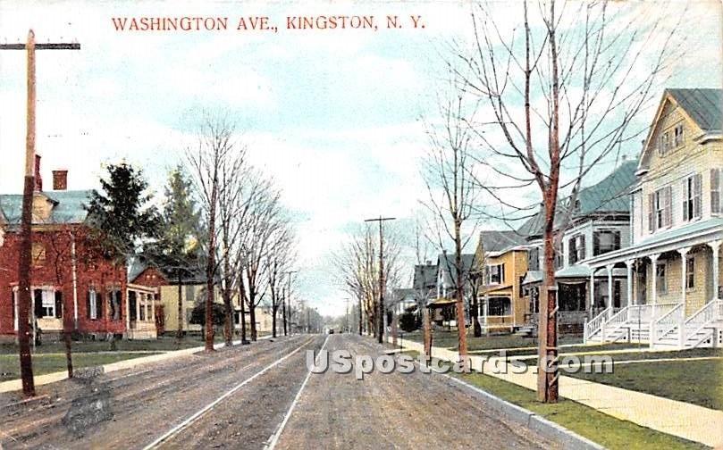 Washington Ave - Kingston, New York NY Postcard