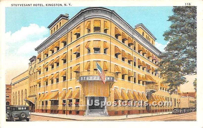 Stuyvesand Hotel - Kingston, New York NY Postcard