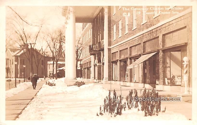 Governor Clinton in Winter - Kingston, New York NY Postcard
