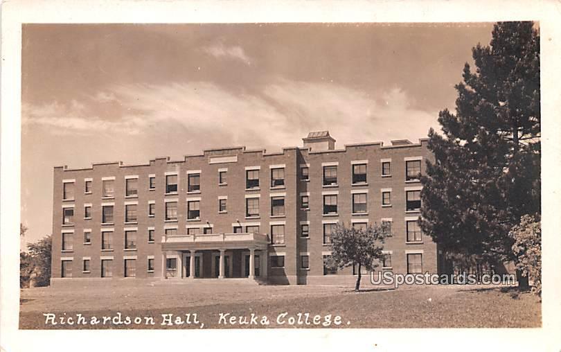 Richardson Hall - Keuka Park, New York NY Postcard