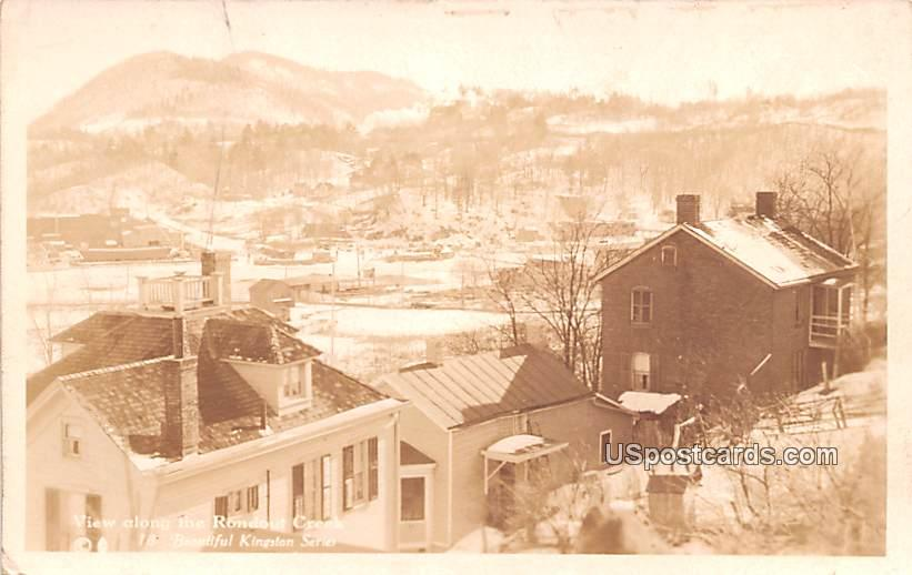 View along the Rondout Creek - Kingston, New York NY Postcard