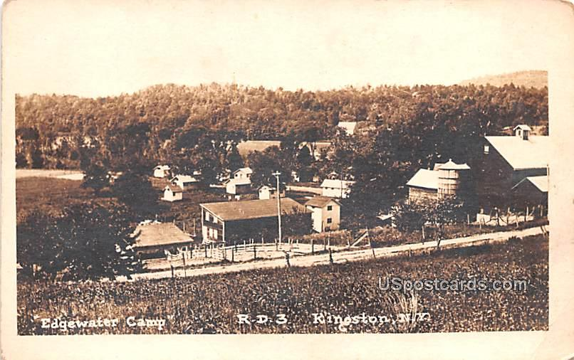 Edgewater Camp - Kingston, New York NY Postcard