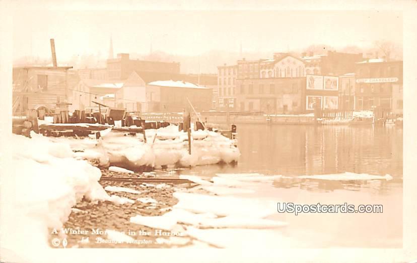 Winter Morning - Kingston, New York NY Postcard