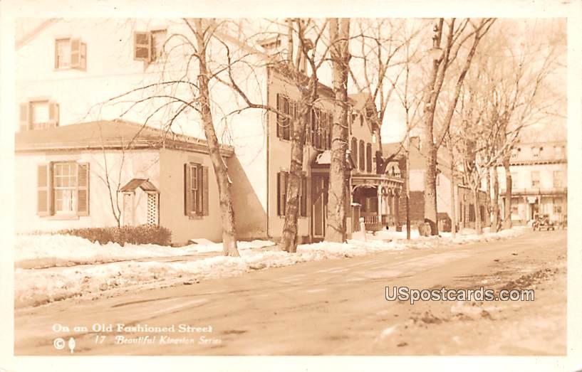 Old Fashioned Street - Kingston, New York NY Postcard