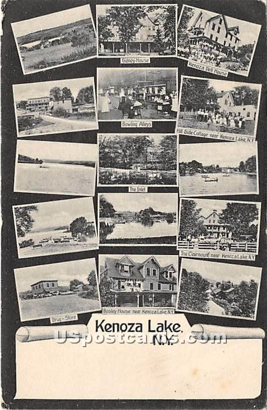 Kenoza Dell House, Drug Store - Kenoza Lake, New York NY Postcard