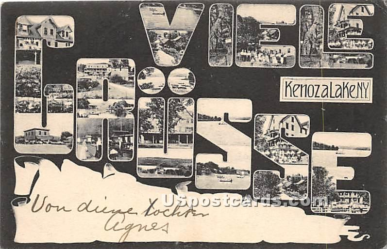 Viele Grusse - Kenoza Lake, New York NY Postcard